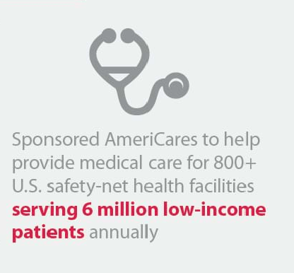 Helped provide medical care for 800+ U.S. safety-net health facilities, Robin Andrews
